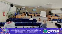 AUDIÊNCIA PÚBLICA PARA PRESTAÇÃO DAS CONTAS DO PODER LEGISLATIVO