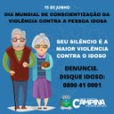 DIA MUNDIAL DE CONSCIENTIZAÇÃO DA VIOLÊNCIA CONTRA A PESSOA IDOSA