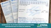 NÚMEROS DE TELEFONES EMERGENCIAIS ESTARÃO DISPONÍVEIS NAS FATURAS DA SANEPAR