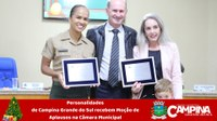PERSONALIDADES DE CAMPINA GRANDE DO SUL RECEBEM MOÇÃO DE APLAUSOS NA CÂMARA MUNICIPAL
