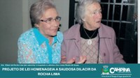 PROJETO DE LEI HOMENAGEIA A SAUDOSA DILACIR DA ROCHA LIMA