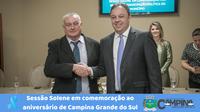SESSÃO SOLENE EM COMEMORAÇÃO AO ANIVERSÁRIO DO MUNICÍPIO DE CAMPINA GRANDE DO SUL